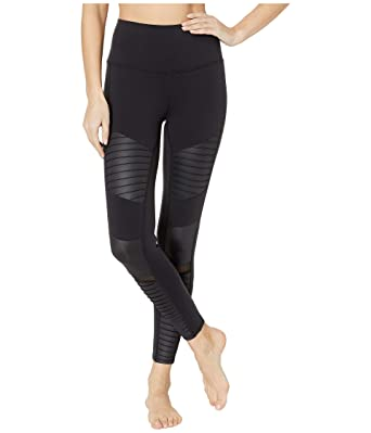 6f97fcc664 ALO Women's 7/8 High-Waist Moto Leggings at Amazon Women's Clothing store: