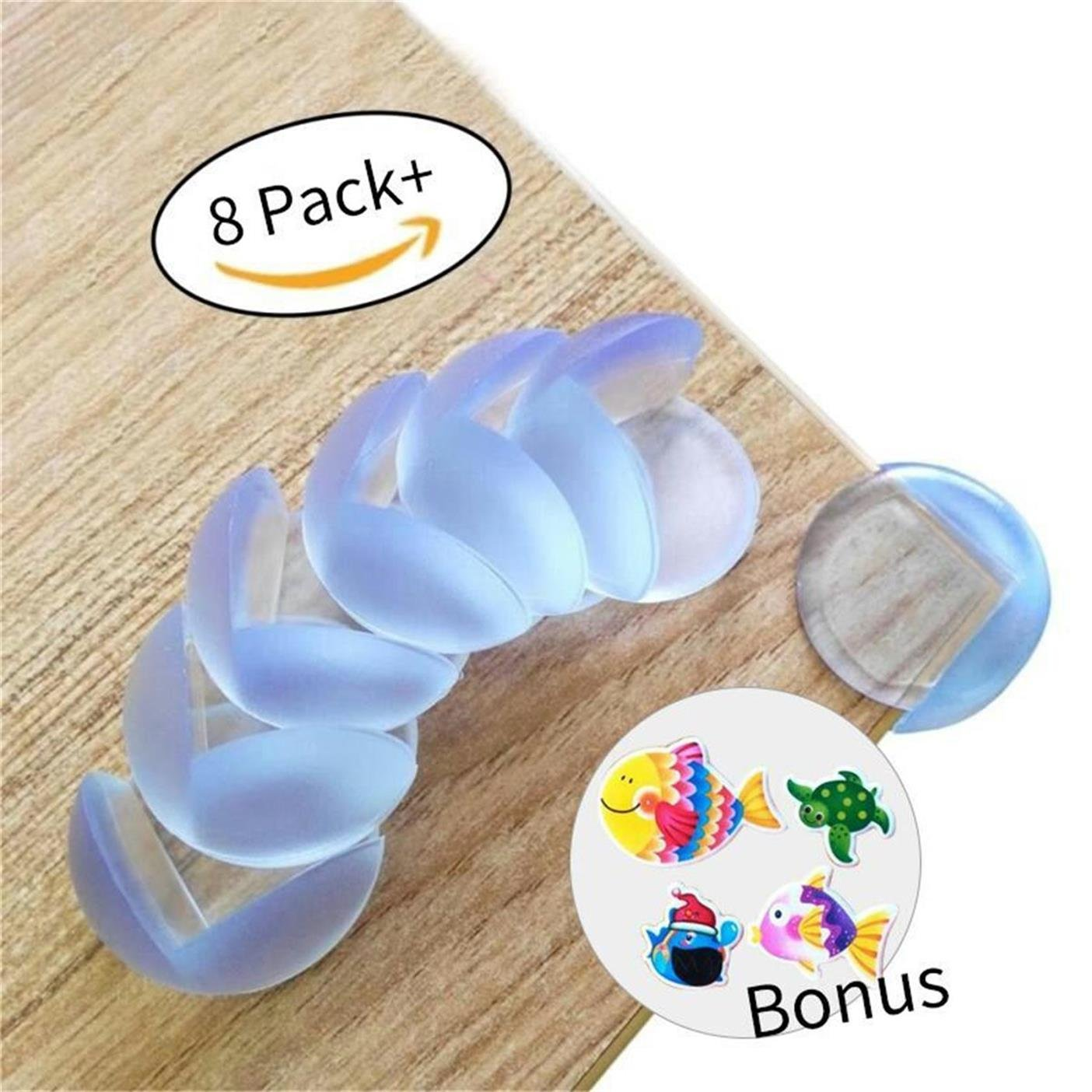 8-pack MEDICAL GRADE Baby guards from Paris Babyhome-Clear Furniture Corner Protectors-Child Proof Corner Safety Bumpers-Baby Proofing Corner Guards (8pack, clear) Paris Baby Home Inc