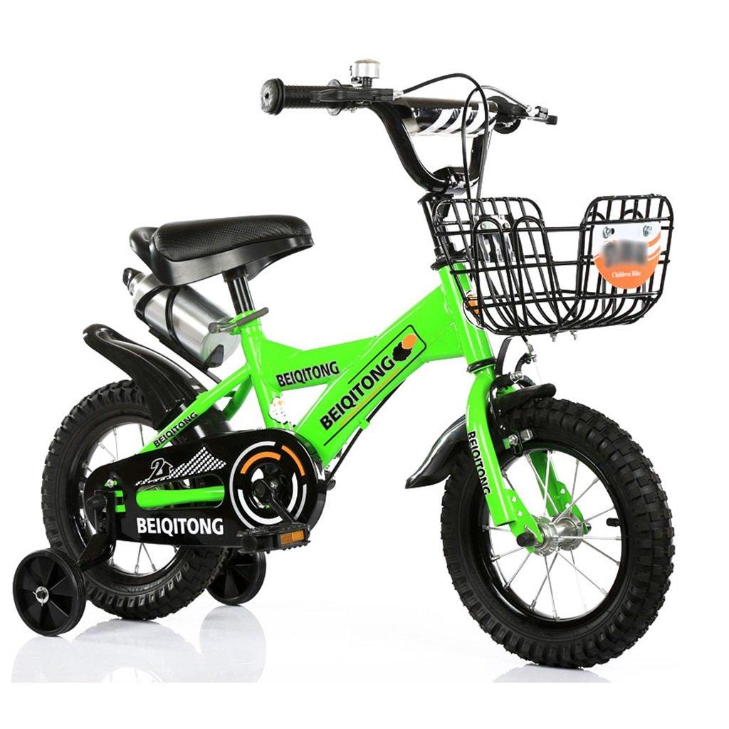 最高の品質 子供の自転車12|14|16|18|20インチ屋外の子供の赤ちゃんキッドマウンテンバイク黒のトレーニングホイールで2歳から11歳の男の子の女の子の贈り物|アイアンバスケット|水ボトルセーフグリーン 12インチ 12インチ B078JTF7YZ B078JTF7YZ, レザークラフト優 プラス:fa0293f7 --- greaterbayx.co