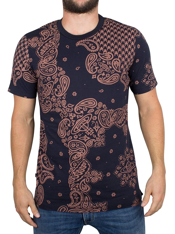 Vivienne Westwood Herren All Over Print Bandana T-Shirt, Blau