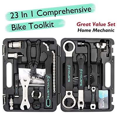 Bicycle Multitool Kit Set Bike Multifunction Tool Portable Park Multitool Bike Repair Tool Kit Set with Bicycle Rim Correct Kit