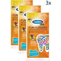 Dentek Fun Flossers Pack of 3 x Pack of 40)