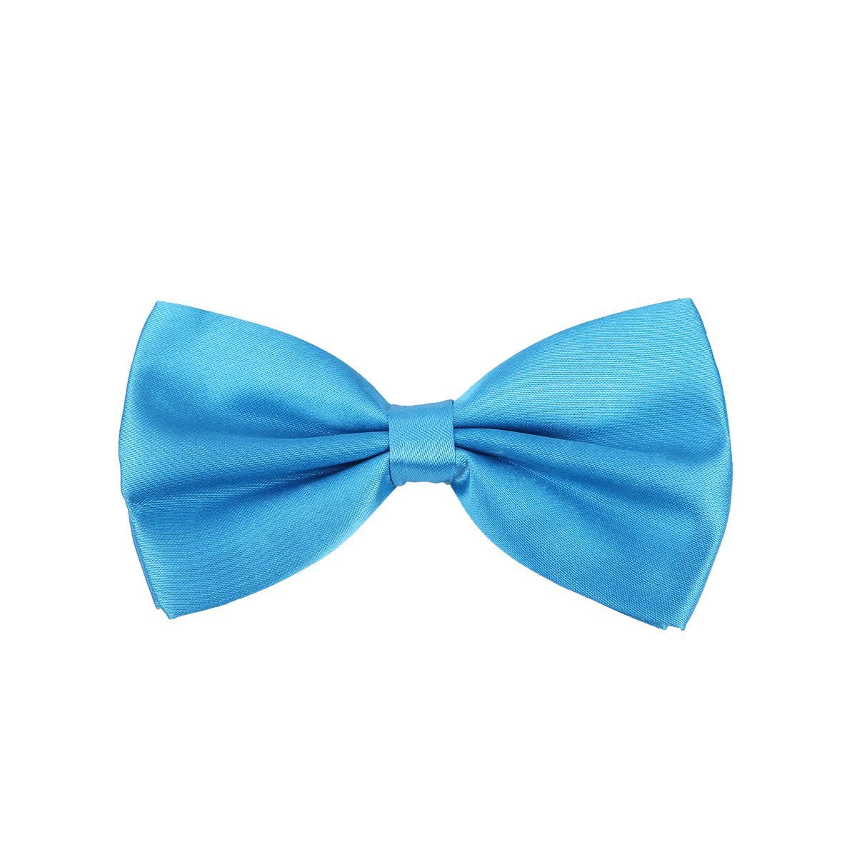 Kids Small Solid Color Adjustable Tuxedo Neck Bowtie Bow Tie - Diff Colors Brown BT158-Brown
