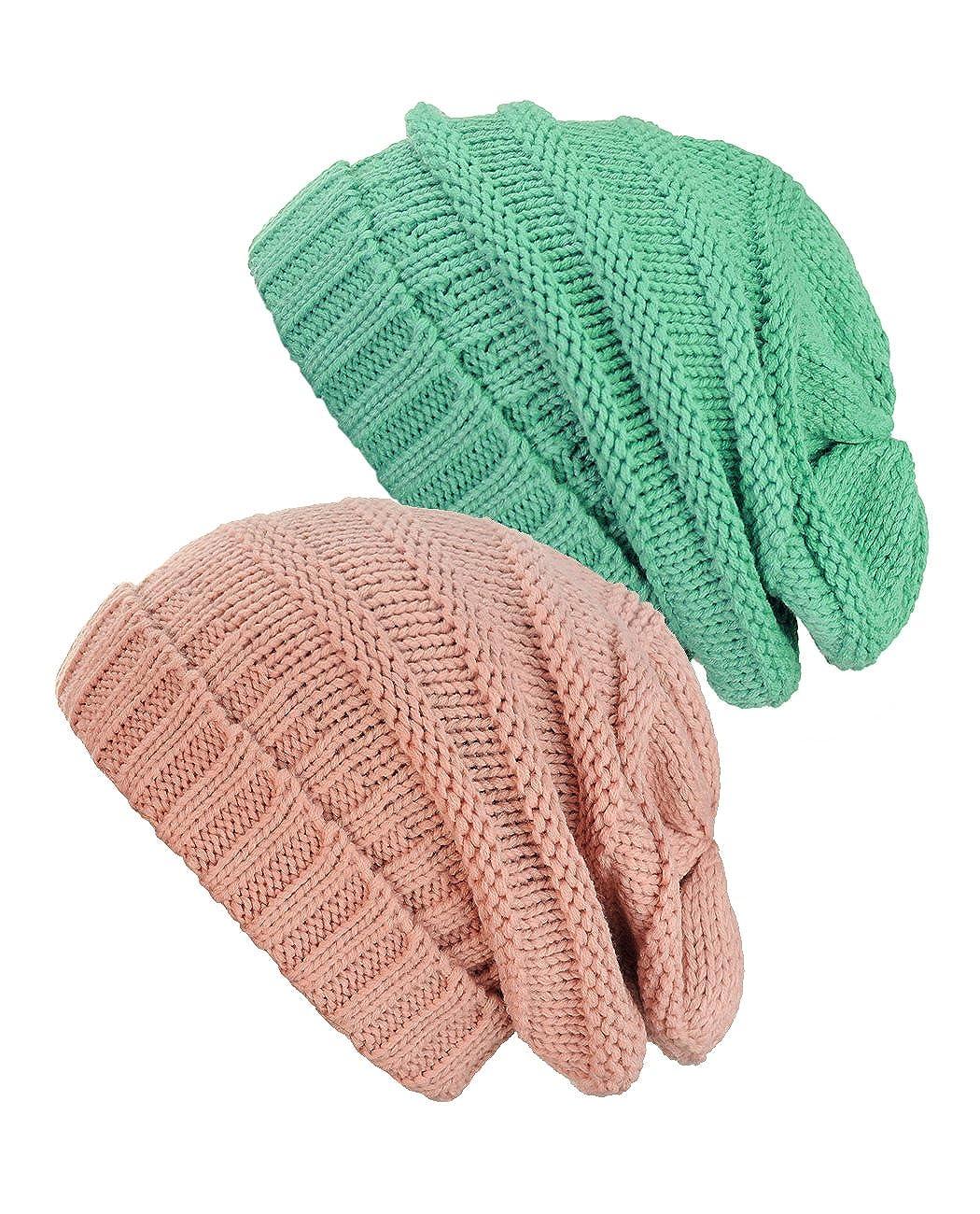 Bonnet dhiver bouffant et /épais de style slouchy Une exclusivit/é de NYfashion101.