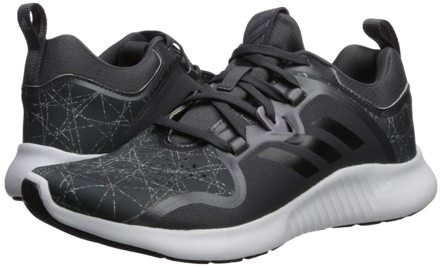 adidas Women's Edgebounce Grey/Black/White 5.5 M US by adidas (Image #6)