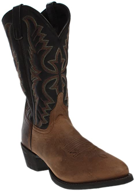 Men's Birchwood Cowboy Boot Round Toe Distressed 11.5 EE US