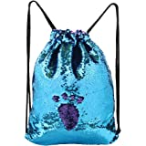 MHJY Mermaid Bag Sequin Drawstring Backpack Dancing Bag Fashion Dance Bag Sequin Backpack Flip Sequin Bling Bag for Beach Hiking Bags