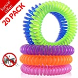NaturesRepel 20-Pack Mosquito Repellent Bracelet - 100% All Natural Plant Based Oil, Non Toxic Travel Insect Repellent, Safe Deet-Free Band - Kids, Adults and Teens - Keeps Bugs Away
