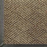 WaterHog Eco Commercial-Grade Entrance Mat, Indoor/Outdoor Black Smoke Floor Mat 5' Length x 3' Width, Khaki by M+A Matting