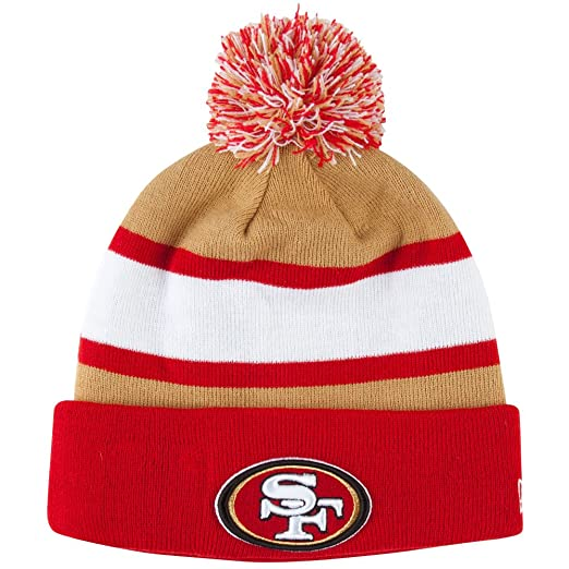 9743aa645aa Amazon.com   San Francisco 49ers New Era On Field Sport Knit Hat ...