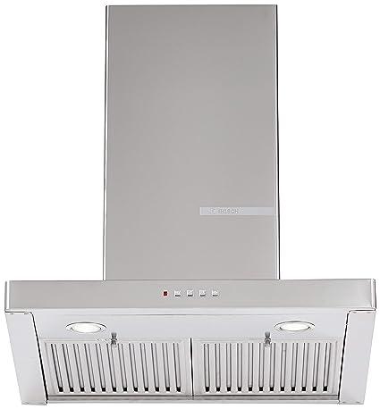 Bosch 60cm 800 m3/hr Chimney (DWB068D50I, 2 Baffle Filters, Steel/Grey)