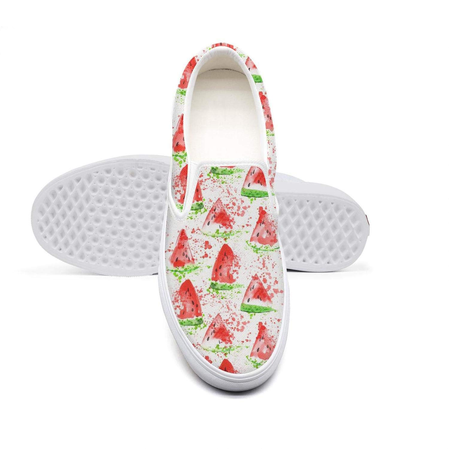 Womens Slip-on Loafer Cool Summer Watermelon Gifts Green Casual Sneaker Flat Walking Shoes Breathable