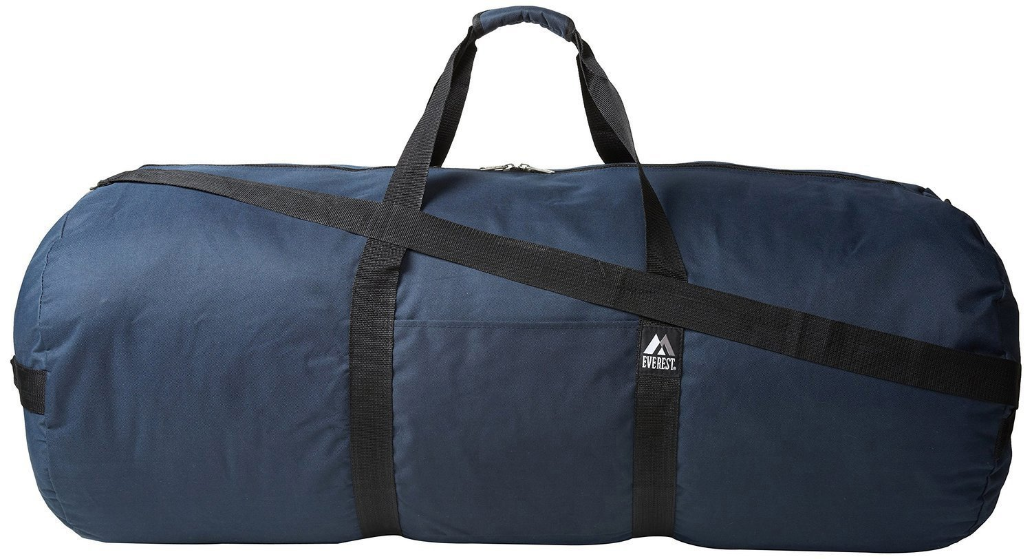 20 Pieces Case Pack Everest 40-inch Round Duffel Bags (One Size, Navy)