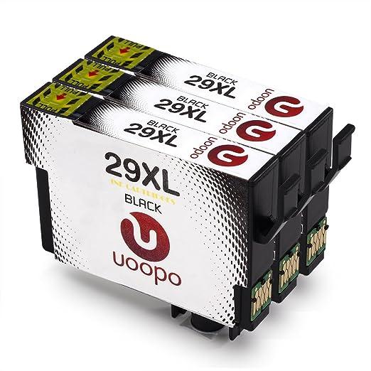 16 opinioni per Uoopo Compatibile Sostituzione per Epson 29XL Cartucce d'Inchiostro Nero per