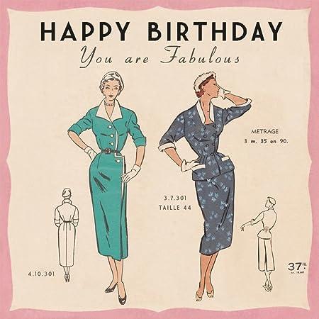 Paris Fashion Birthday Card Amazon Kitchen Home