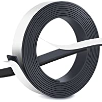 10 Feet Magnet Tape with Adhesive Back, Flexible Magnetic Roll Strip Strong Sticky Tape Can Cut Squares for Refrigerator Craft and DIY Projects, 2.5cm x 3m