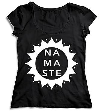 MYMERCHANDISE Namaste Sun Yoga Meditation T-Shirt Camiseta ...