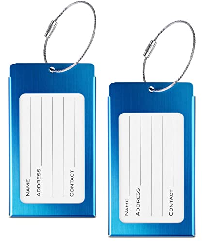 amazon com luggage tags webravery suitcase labels business card