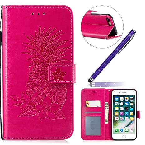 iPhone 8 Plus Funda,Carcasa iPhone 7 Plus Flip Cuero,Funda ...
