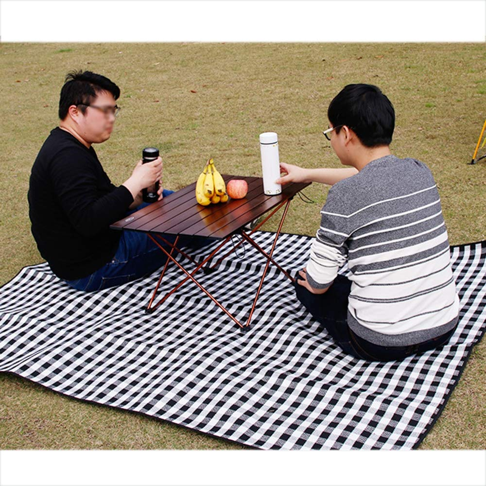Portable Camping Table, Aluminum Table Topanti-Corrosion Rust Prevention Non-Slip Folding Table Picnic Camp Beach Easy Clean,2 by Cxmm (Image #6)