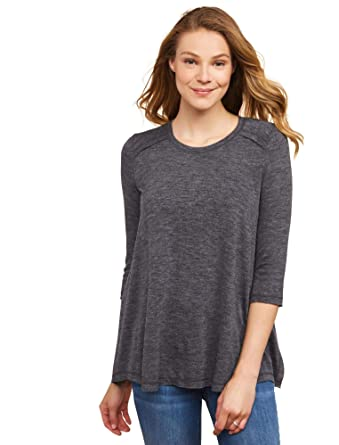 4ee8542d8a1b6 Jessica Simpson Pull Over Side Slit Nursing Top at Amazon Women's Clothing  store: