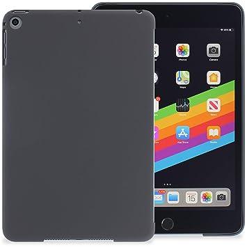 KHOMO Carcasa Trasera iPad Mini 5 (2019) Funda Rígida Compatible con Smart Cover - Gris Oscuro