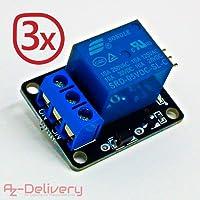AZDelivery ⭐⭐⭐⭐⭐ 3 x 1-Relais KY-019 Modul High-Level-Trigger für Arduino
