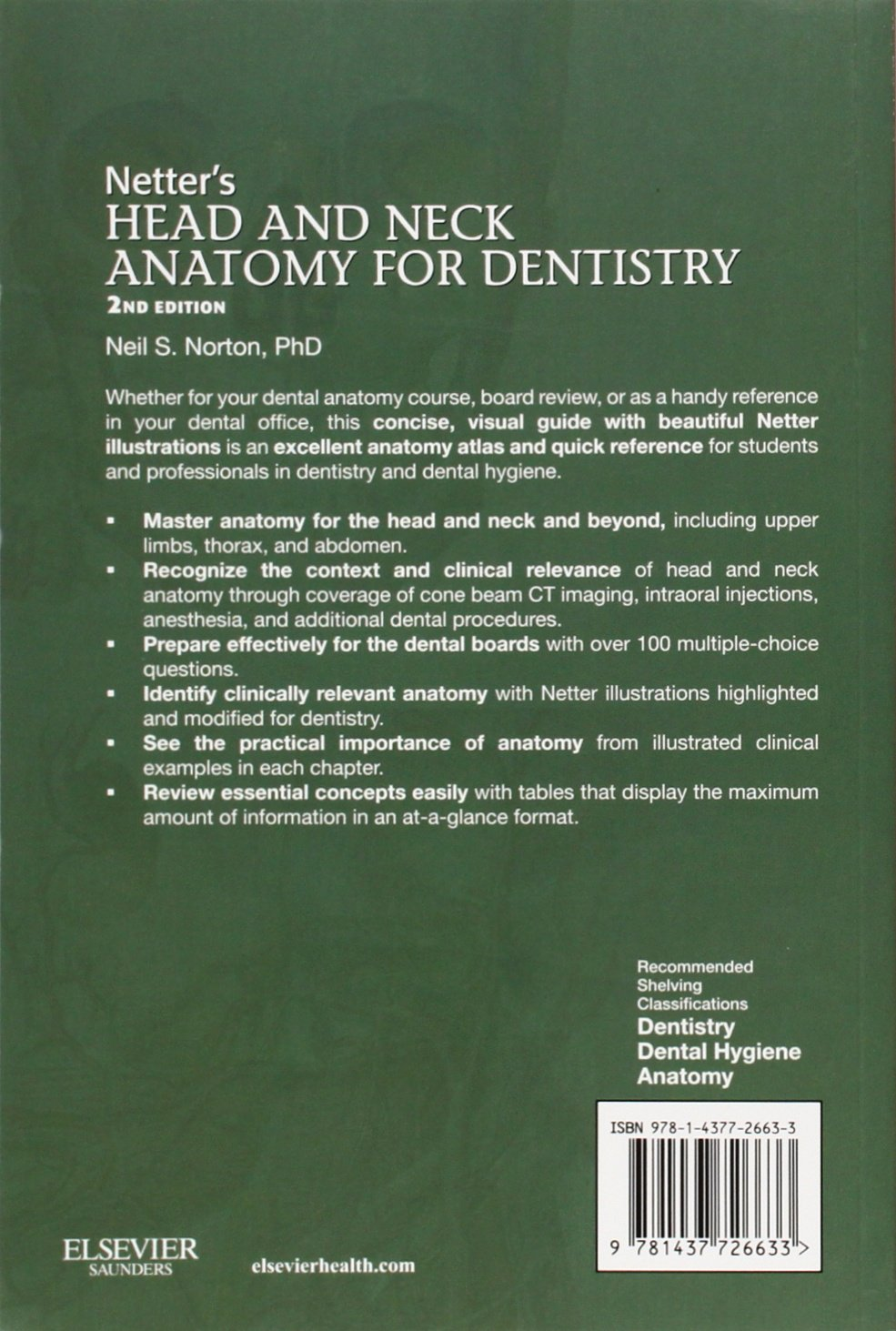 Netter\'s Head and Neck Anatomy for Dentistry: Amazon.co.uk: Neil S ...