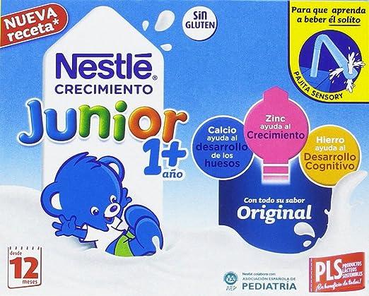Nestlé Junior Crecimiento Original - A Partir de 1 Año - 4 Packs de 3 x 200 ml - Total: Pack de 12 x 200 ml: Amazon.es: Alimentación y bebidas