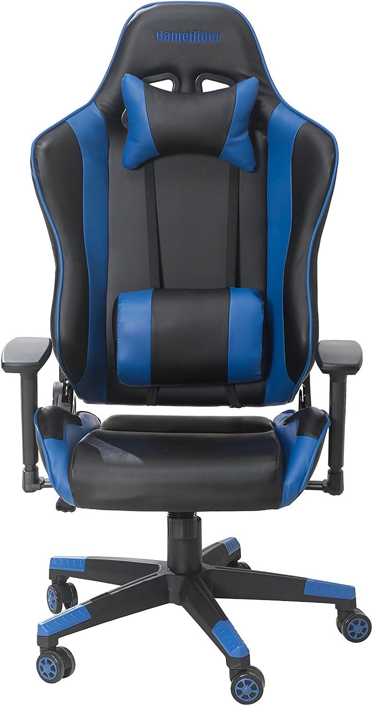 GameRider Navigator Gaming Chair, 27.56×27.56×54.33, Black Blue