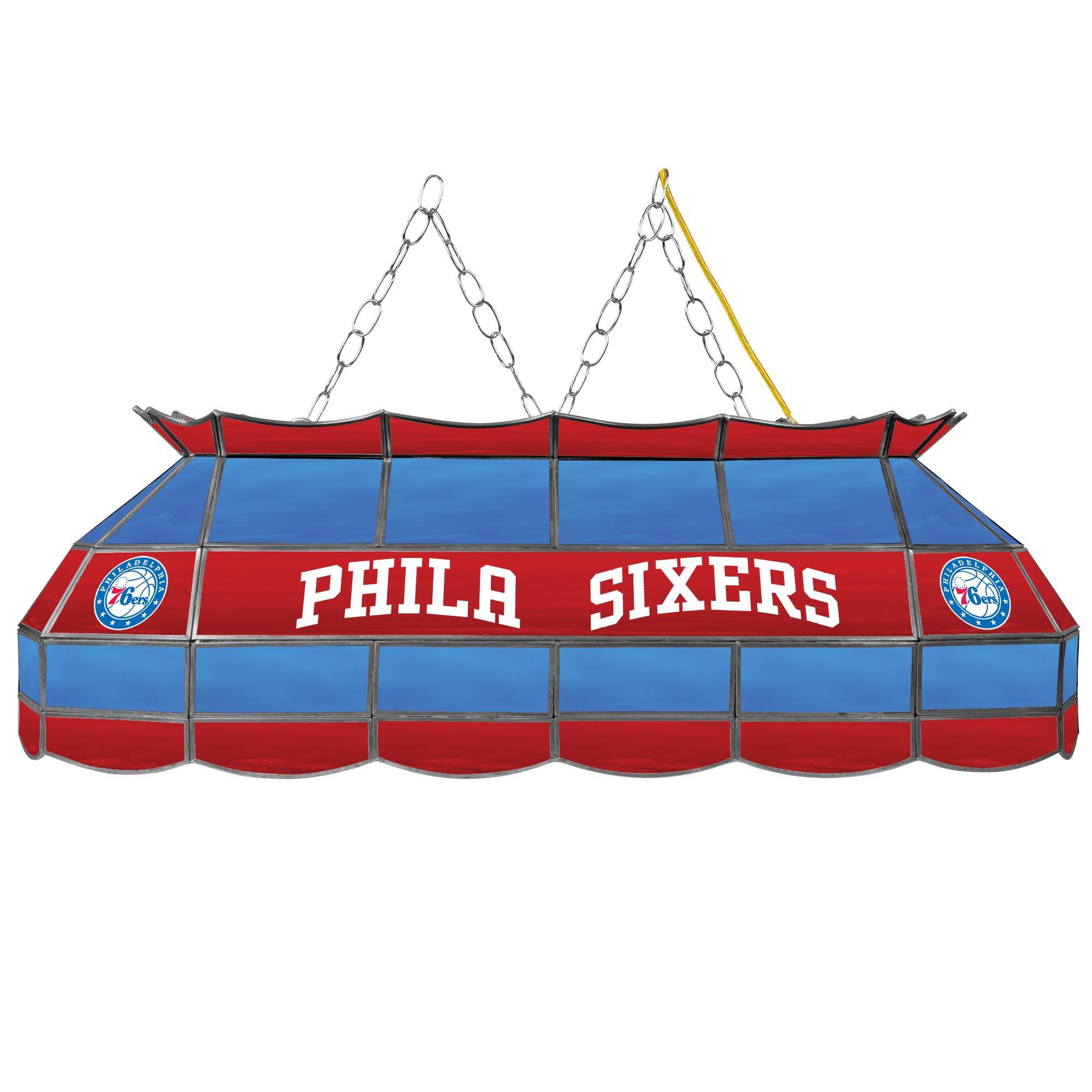 NBA Philadelphia 76ers Tiffany Gameroom Lamp, 40''