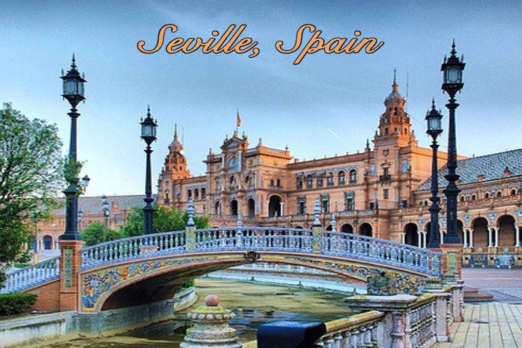 Scenic Spain Seville Plaza de Espana Photo Fridge Magnet- Photo Novelty Fridge Magnet Ace Geordie Collectables