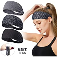 Headbands for Women,Tersely 3 Pack Women Sport Workout Yoga Headband Non Slip Lightweight Soft Wicking Stretchy Multi…