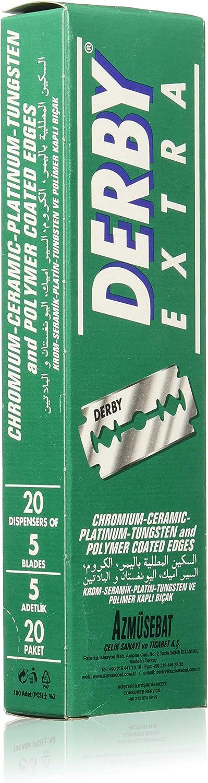 Derby E1 - Pack de 100 hojas en acero inoxidable