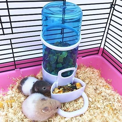 LA VIE Dispensador de Comida Automatico para Hámster Alimentador Automático para Mascotas Hámster Ratones Erizo Comedero