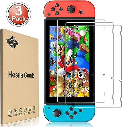 daydayup 3piezas Protector de Pantalla para Nintendo Switch Cristal Templado Pantalla,fácil instalación Sin Burbujas, HD, a Prueba de Rotura, arañazos-Resistente: Amazon.es: Informática