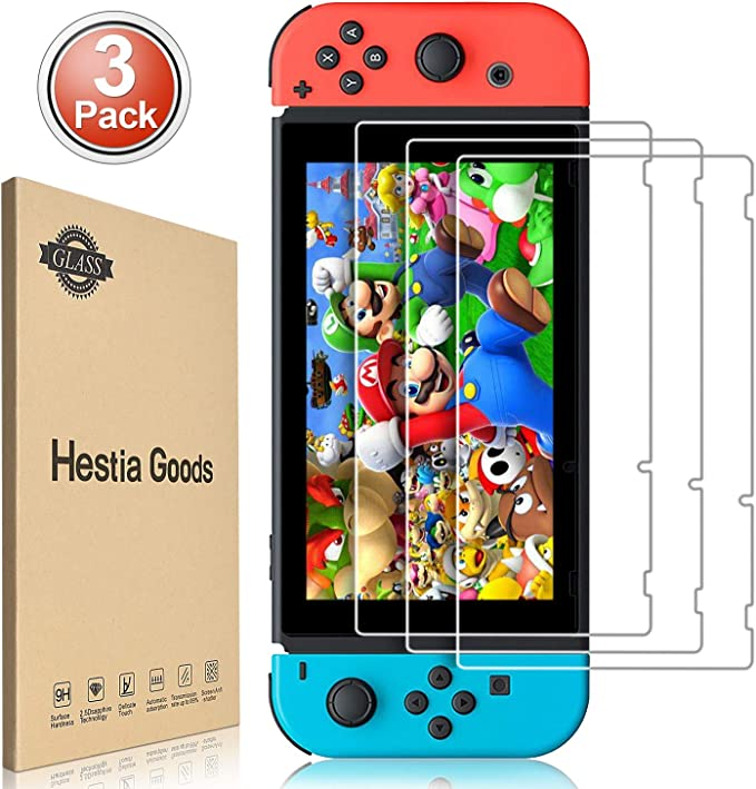 3piezas Protector de Pantalla para Nintendo Switch Cristal Templado Pantalla,fácil instalación Sin Burbujas, HD, a Prueba de Rotura, arañazos-Resistente …: Amazon.es: Electrónica