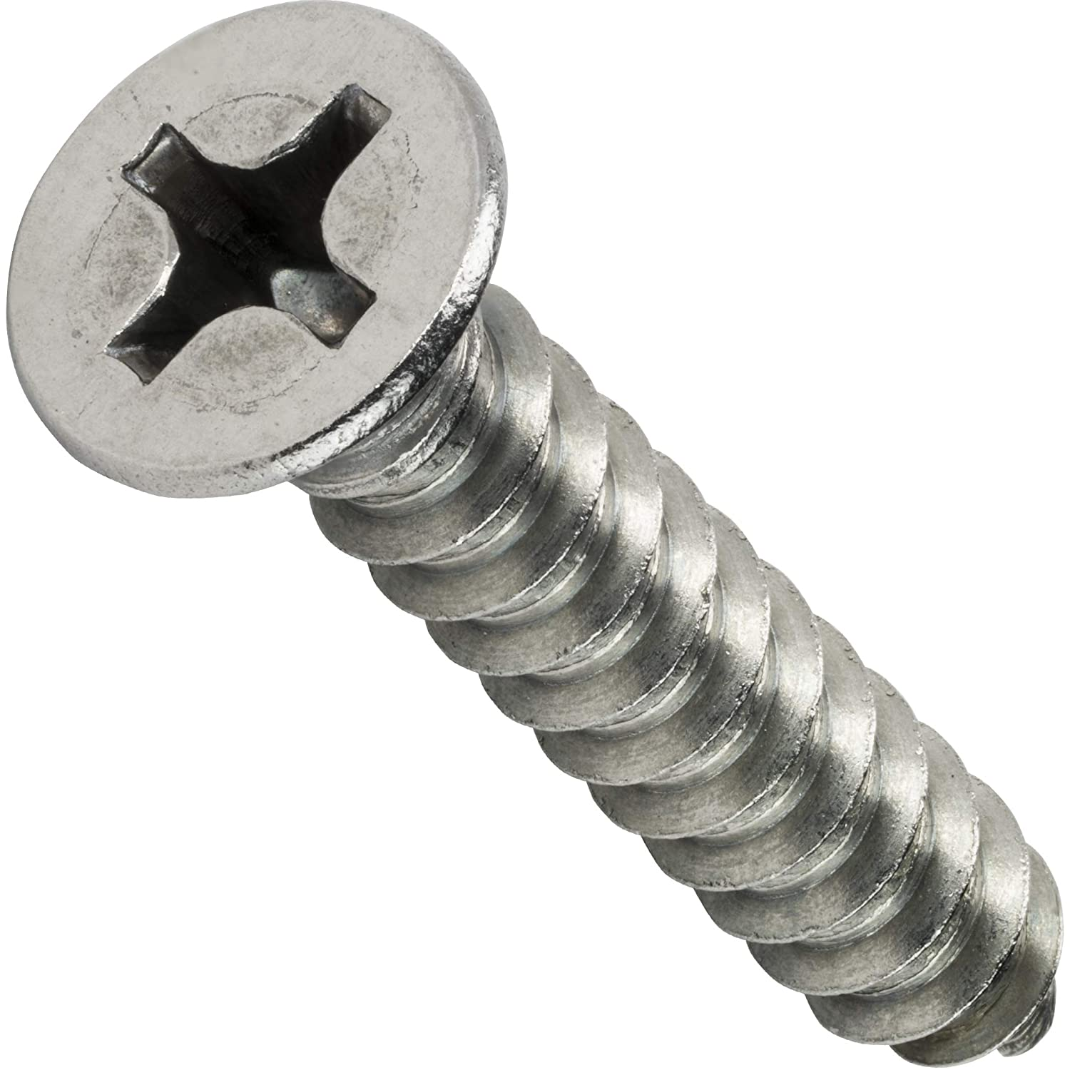 Full Thread Phillips Drive Stainless Steel 18-8 Self-Tapping Quantity 25 by Fastenere #12 x 3//4 Flat Head Sheet Metal Screws Bright Finish