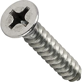 Type AB #4-24 Thread Size Small Parts 0414ABPP 7//8 Length Pack of 100 Pack of 100 Pan Head Steel Sheet Metal Screw Phillips Drive Zinc Plated 7//8 Length