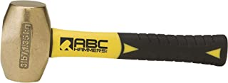 product image for ABC Hammers ABC3BFS Brass Hammer with 8-Inch Fiberglass Handle, 3-Pound