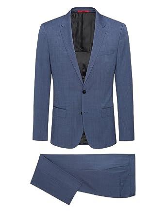 36c3724fd Amazon.com: Hugo Boss Men's 'Henry/Griffin' Blue Slim Fit Virgin ...