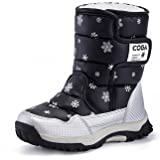 Yavero Boy's Girls Outdoor Waterproof Cold Weather Winter Snow Boots Toddler Kids Warm Faux Fur Booties
