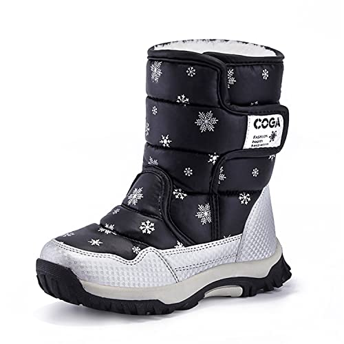 dd5b011a8f52 Yavero Boy s Girls Outdoor Waterproof Cold Weather Winter Snow Boots  Toddler Kids Warm Faux Fur Booties