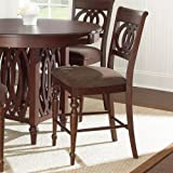 Steve Silver Dolly Counter Height Dining Chair - Set of 2 - Medium Brown Cherry