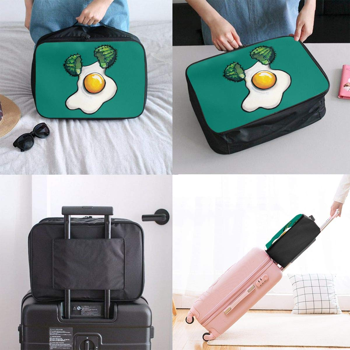 Travel Luggage Duffle Bag Lightweight Portable Handbag Broken Egg Large Capacity Waterproof Foldable Storage Tote