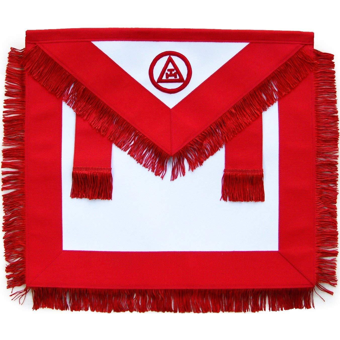 Bricks Masons Masonic Royal Arch Member RAM Apron with Fringe-Lambskin by Bricks Masons