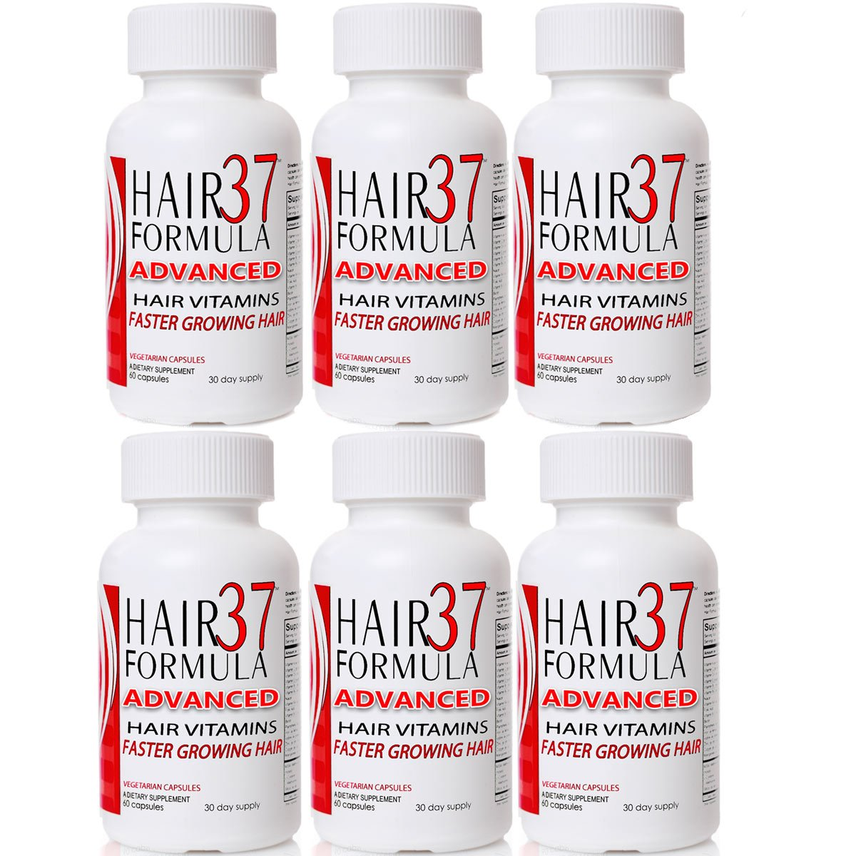 6 Pack Hair Vitamins for Fast Hair Growth Hair Formula 37 Advanced Best Value on Vitamins for Hair Skin Nails
