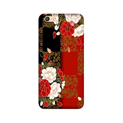 buy online a071a 18dab Yashas® Premium Quality Printed Back Cover for Vivo V71 [Hard Plastic] [for  Girls Boys] / White Red Flowers