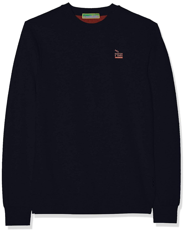 Scotch /& Soda Mens Bright Logo Detail Pullover