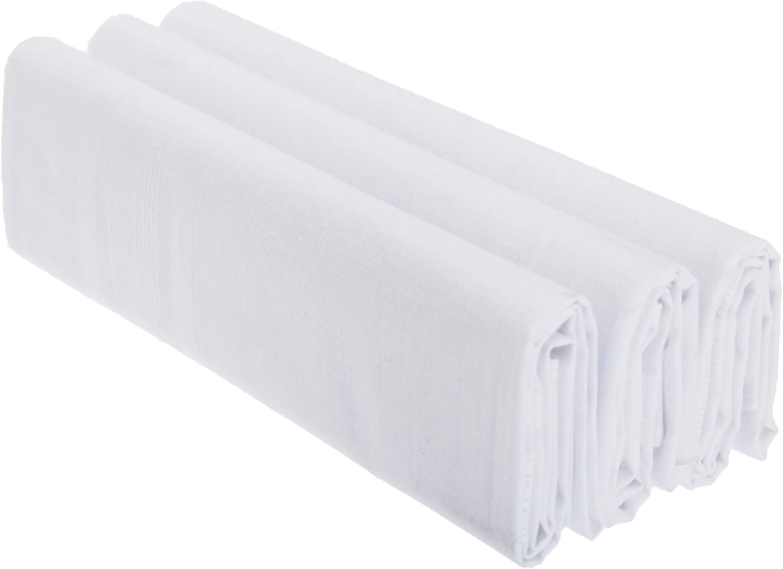 pacco da 3 Uomo Fazzoletti Tinta Unita 100/% Cotone